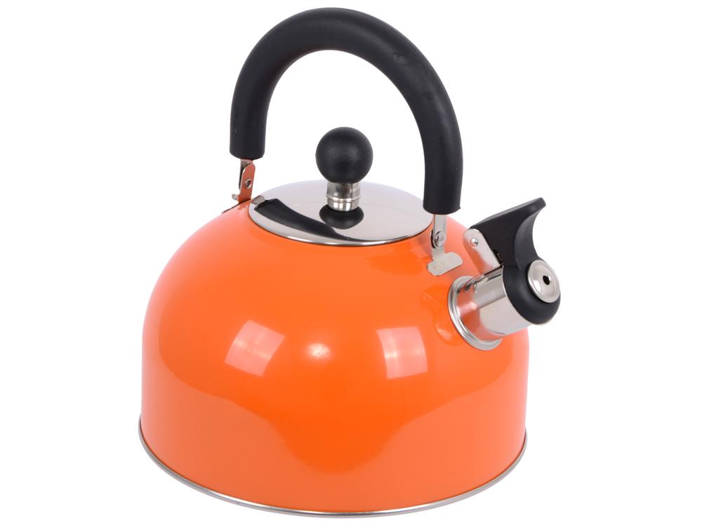 Чайник Катунь KT 105 O 2.5 л нержавеющая сталь оранжевый мантоварка катунь кт 243м 24 см 4 5 л нержавеющая сталь