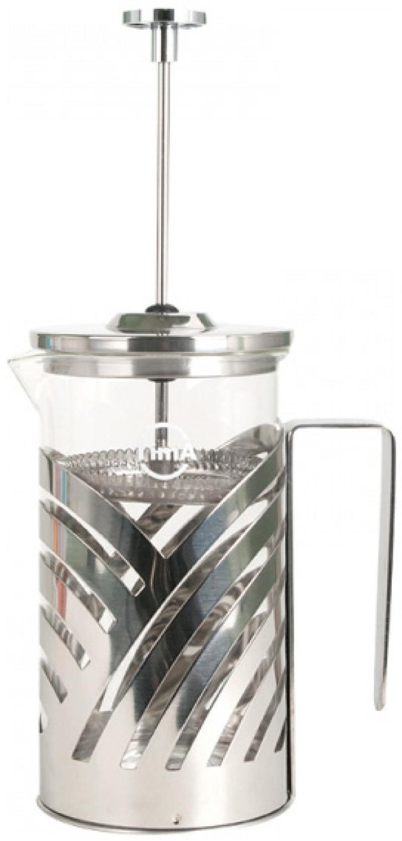 Френч-пресс Tima FB 600 0.6 л металл/стекло серебристый