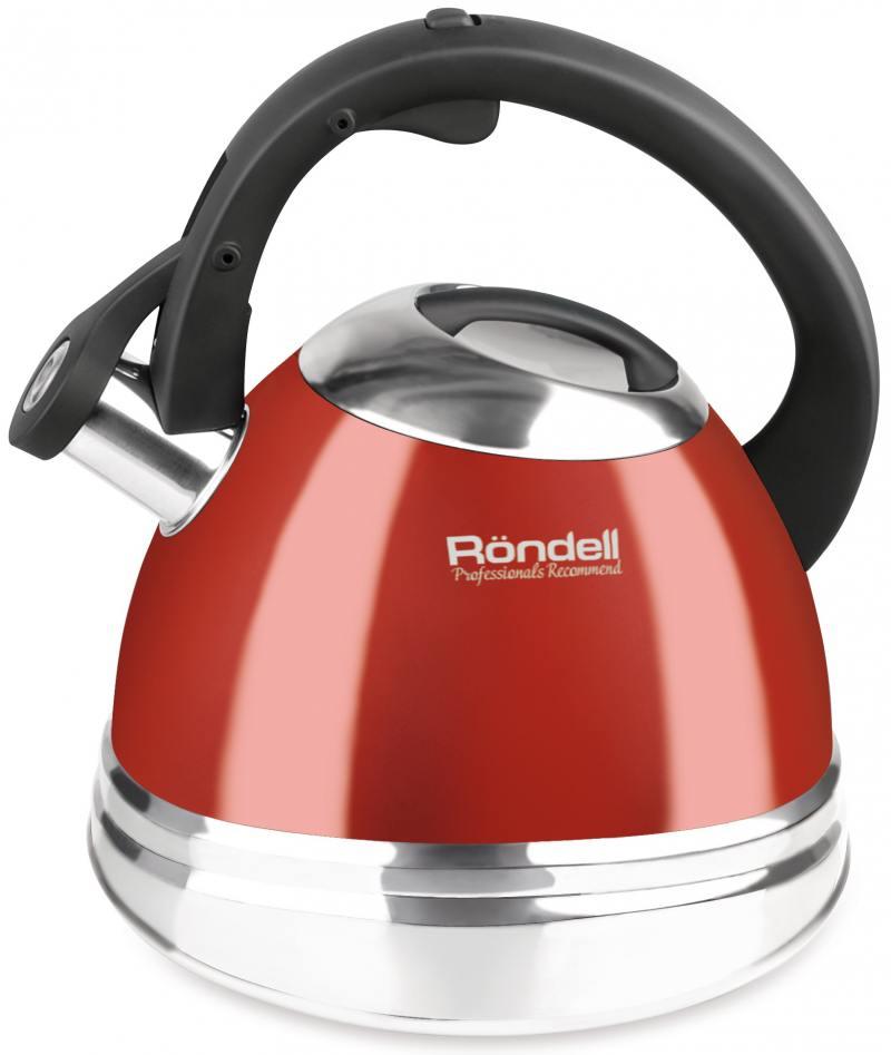 Чайник Rondell RDS-498 (НЕ электрический) красный 3 л нержавеющая сталь чайник rondell fiero rds 498