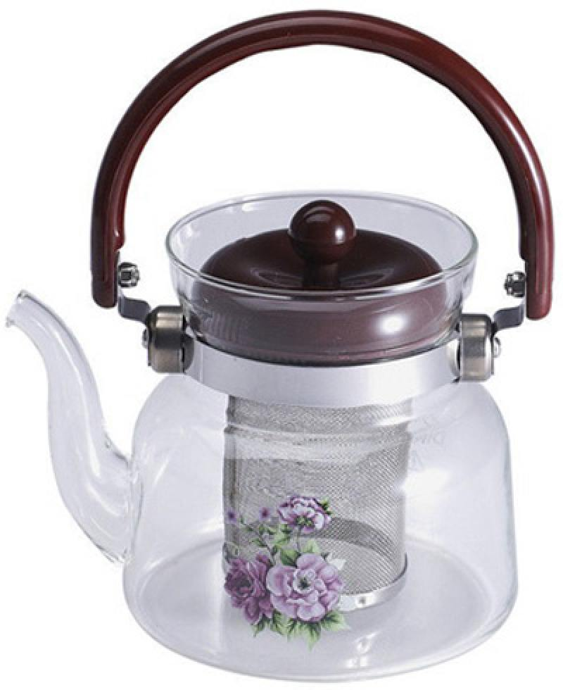 Чайник заварочный Wellberg WB-6855 прозрачный 2.2 л стекло