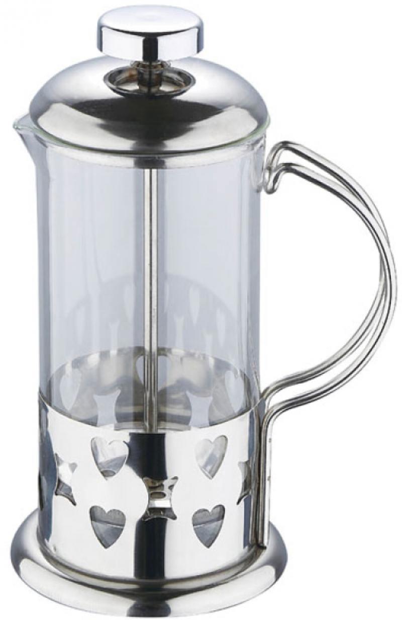 Френч-пресс Wellberg WB-6980 0.35 л металл/стекло серебристый