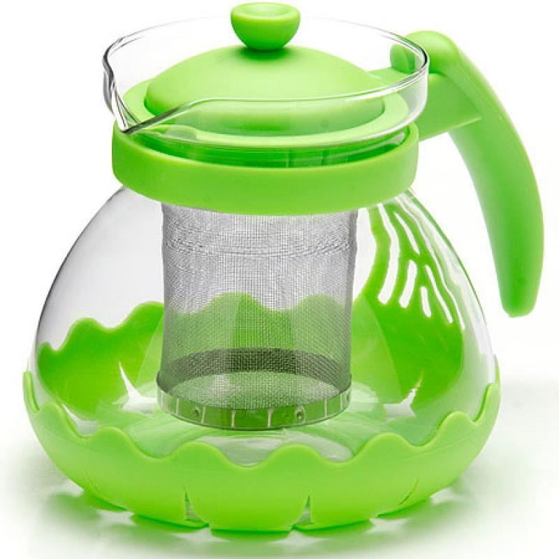 Чайник заварочный Mayer&Boch 26173-3 зелёный 0.7 л металл/стекло