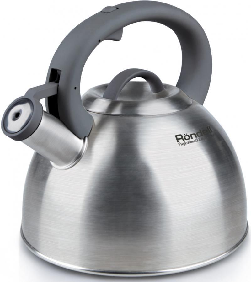 все цены на Чайник Rondell RDS-227 (НЕ электрический) серебристый 3 л нержавеющая сталь онлайн