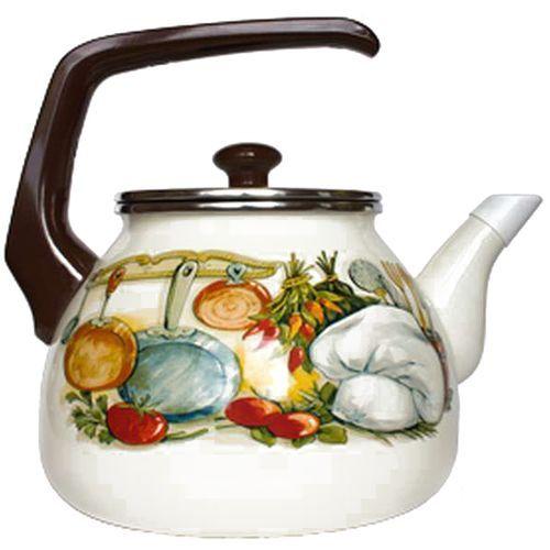 все цены на Чайник INTEROS 15157 Аппетит 3 л металл белый рисунок онлайн