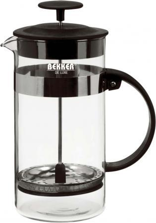 390-BK Чайник  зав./кофейн. BEKKER  (0,8л)De Luxe bekker чайник заварочный пресс фильтр bekker de luxe bk 389 0 6 л ni4uhc1