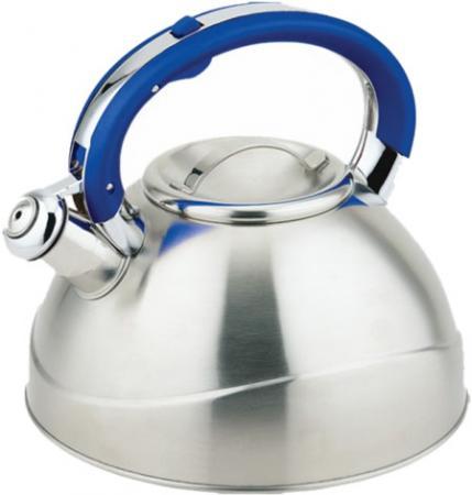 109B-TC Чайник TECO (3,0 л.со свистком нерж.сталь стали c капсульным дном силиконовой цветной ручк чайник со свистком teco tc 112