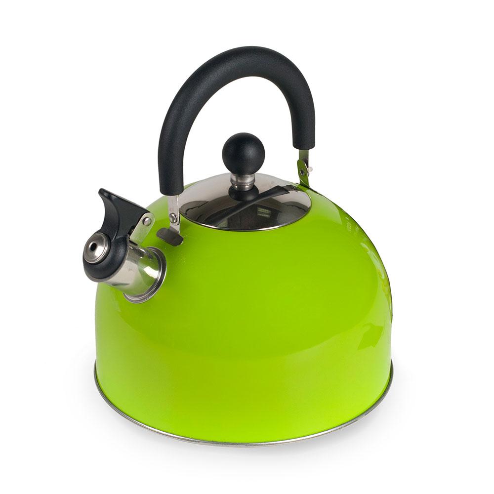 Чайник со свистком Endever Aquarelle-303 зеленый 3 литра, сталь с термопокрытием
