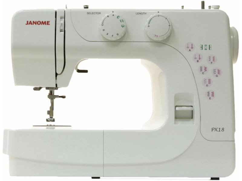 Швейная машина Janome PX 18 белый швейная машинка janome sew mini deluxe