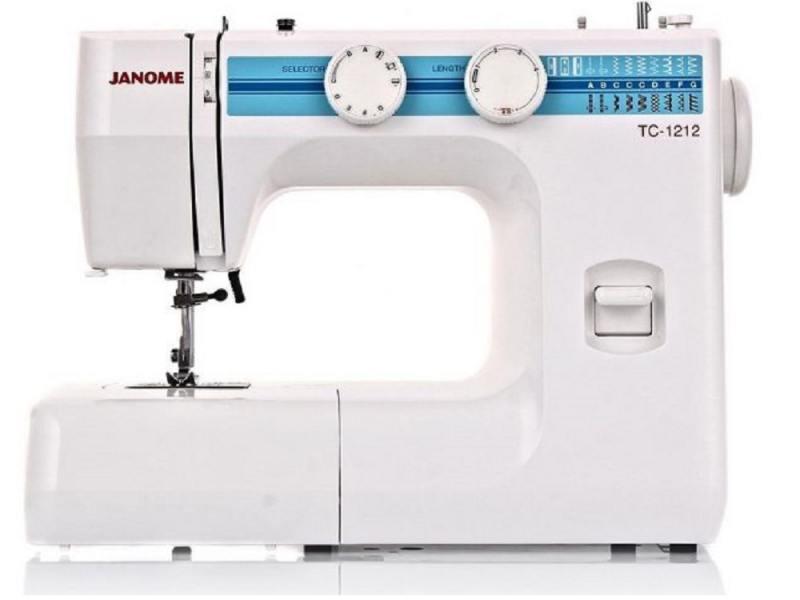 Швейная машина Janome TC 1212 белый цена 2017