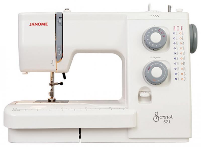 Швейная машина Janome 521 белый janome 2055 белый зеленый