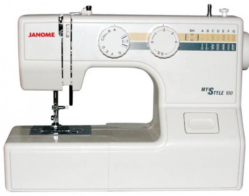 Швейная машина Janome MS 100 белый janome 2055 белый зеленый