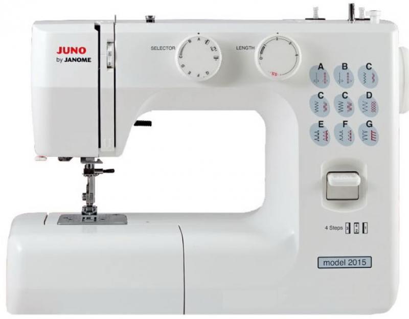 Швейная машина Janome Juno 2015 белый janome juno 1515
