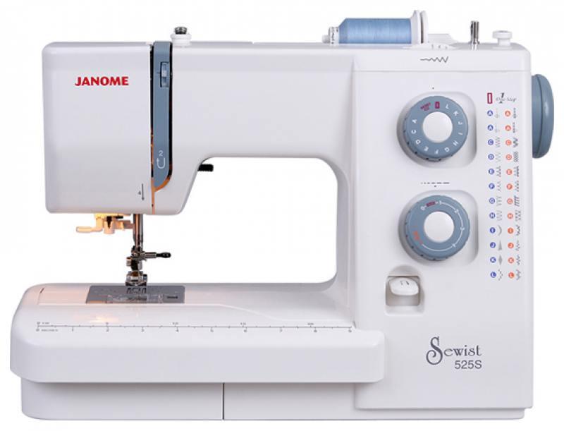Швейная машина Janome 525 S белый janome 2055 белый зеленый