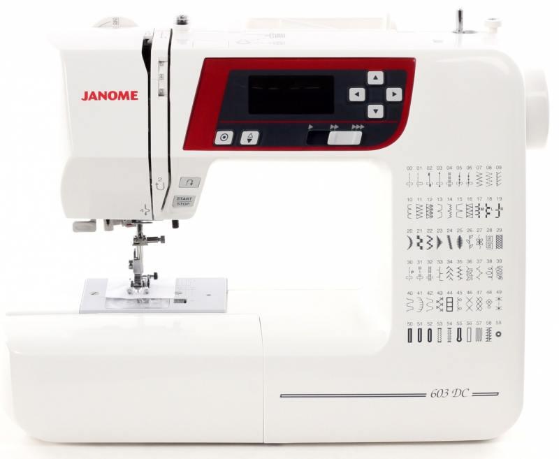 Швейная машина Janome 603 DC белый швейная машина janome decor computer 4030 dc 4030 жесткий чехол