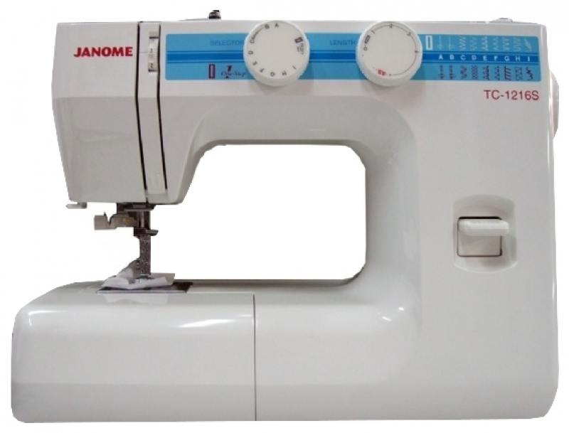 Швейная машина Janome TC-1216S белый janome 2055 белый зеленый