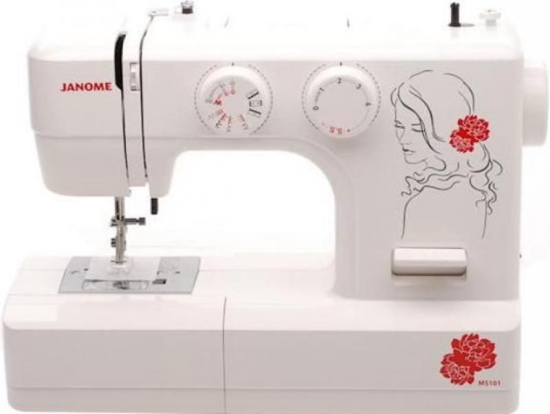 Швейная машина Jaguar 101 белый/цветы