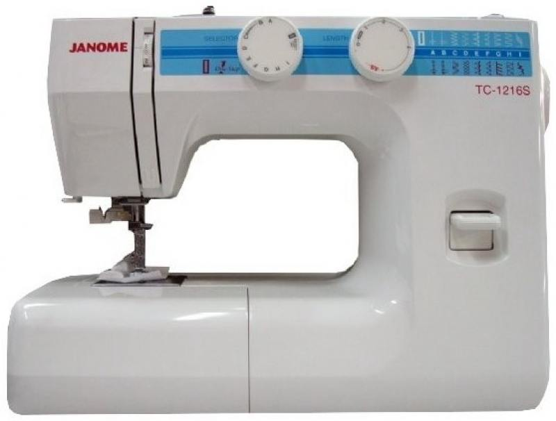 Швейная машина Janome TC 1216 S  белый швейная машинка janome sew mini deluxe