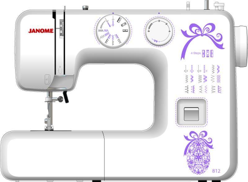 Швейная машина Janome 812 белый швейная машина janome 812 белый