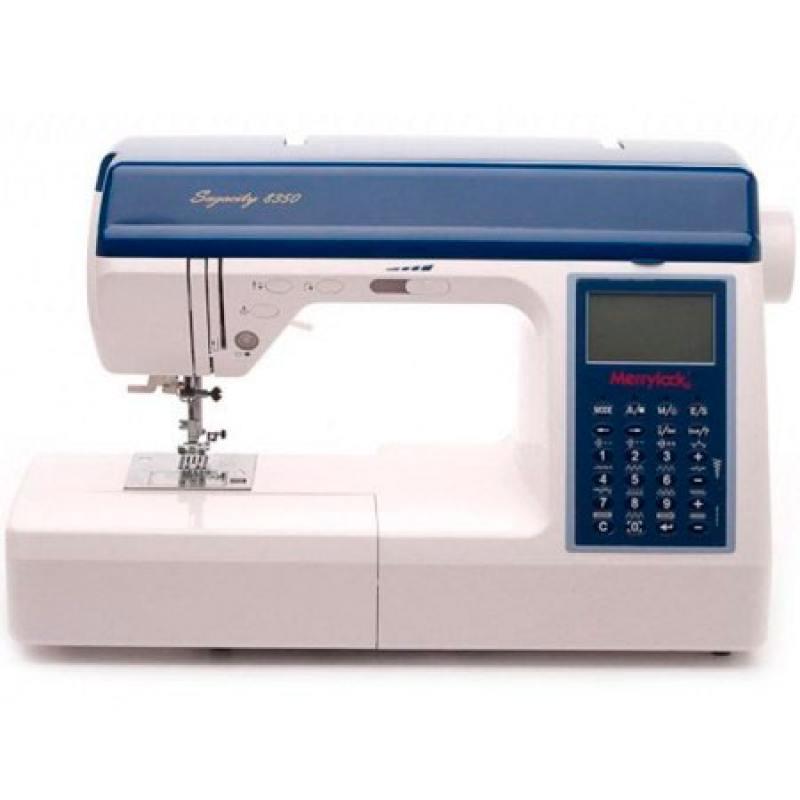 Швейная машина Merrylock 8350 белый/синий иглопробивная машина merrylock merrylock 015