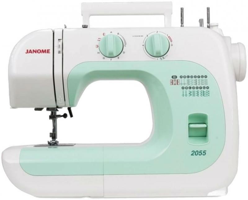 Швейная машина Janome 2055 бело-зеленый цена 2017