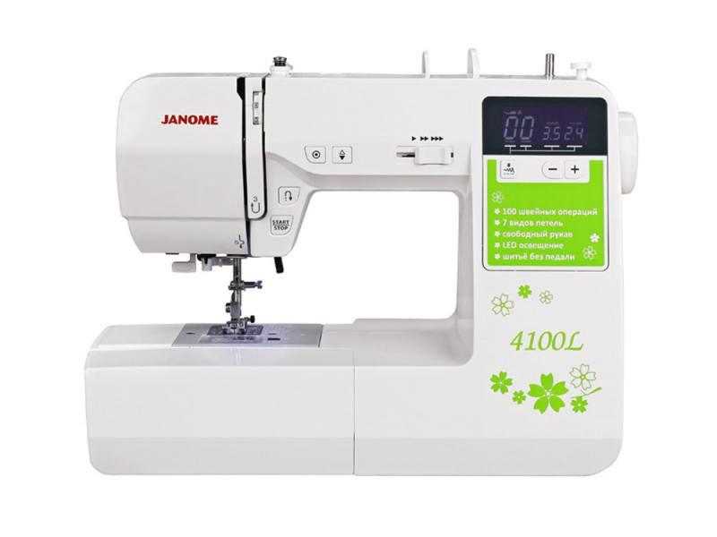 Швейная машина Janome 4100L белый швейная машина janome skyline s3