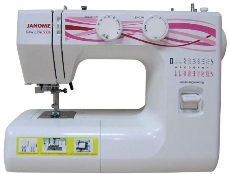 Швейная машина Janome 500s белый швейная машина janome sew line 500 s