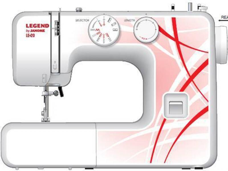 Швейная машина Janome Legend LE20 белый/рисунок