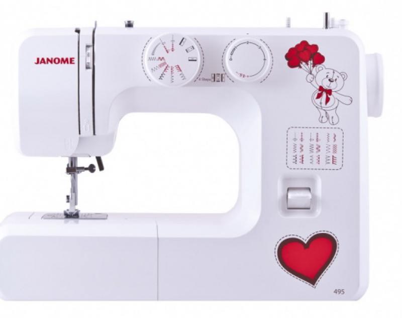 Швейная машина Janome 495 белый janome 2055 белый зеленый