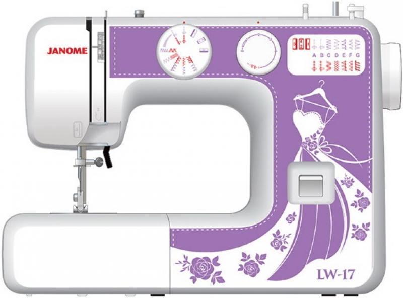 Швейная машина Janome LW-17 белый фиолетовый швейная машина janome skyline s3