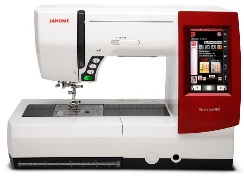 Швейная машина Janome Memory Craft 9900 белый/красный janome memory craft 12000
