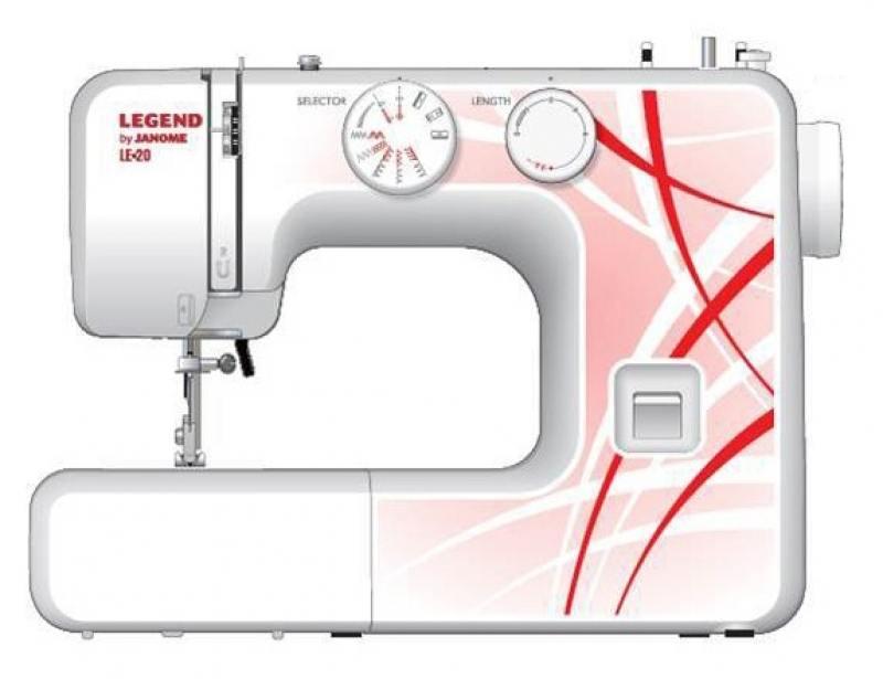 Швейная машина Janome LE20 белый красный