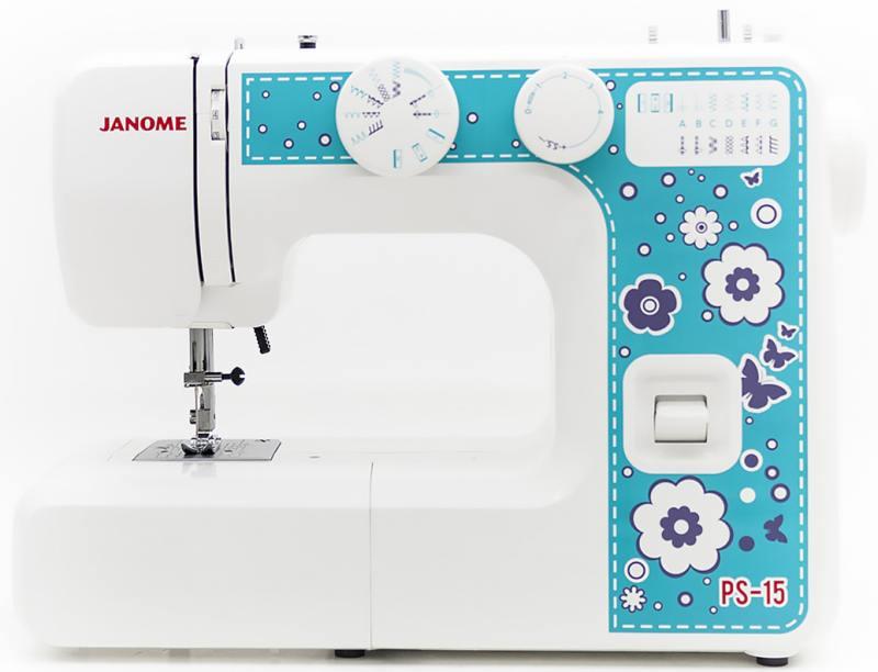 Швейная машина Janome PS-15 белый голубой [available from 10 11] janome sewing machine janome jk 220s