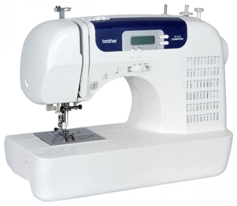 Швейная машина Brother RS260 белый компьютеризированная швейная машина brother rs 260