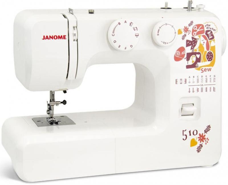 Швейная машина Janome Sew dream 510 белый швейная машина janome sew dream 510 белый