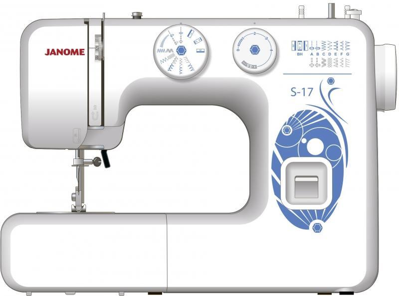 Швейная машина Janome S-17 белый janome 2055 белый зеленый