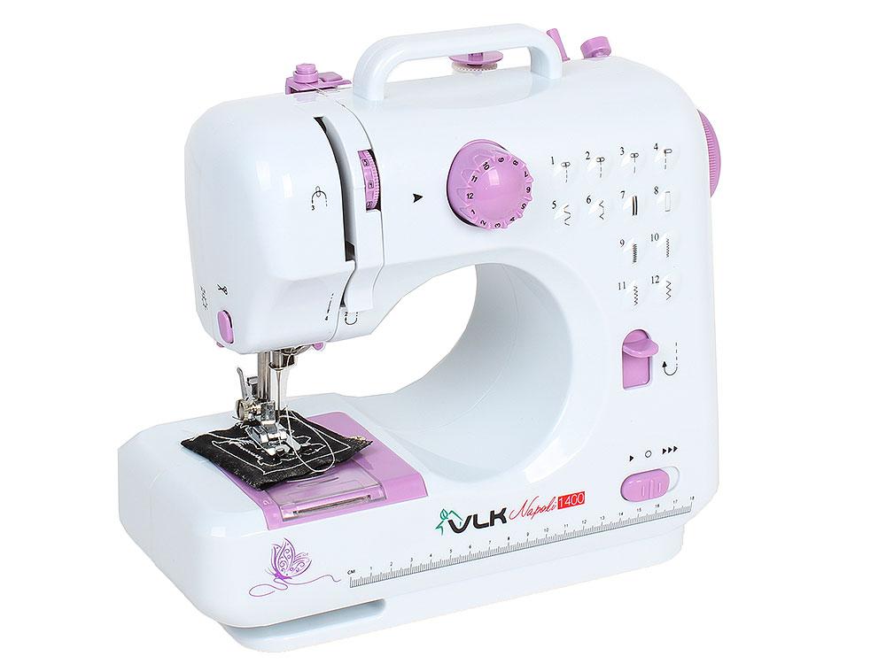 Швейная машина VLK Napoli 1400, белый электромеханическая швейная машина vlk napoli 2100