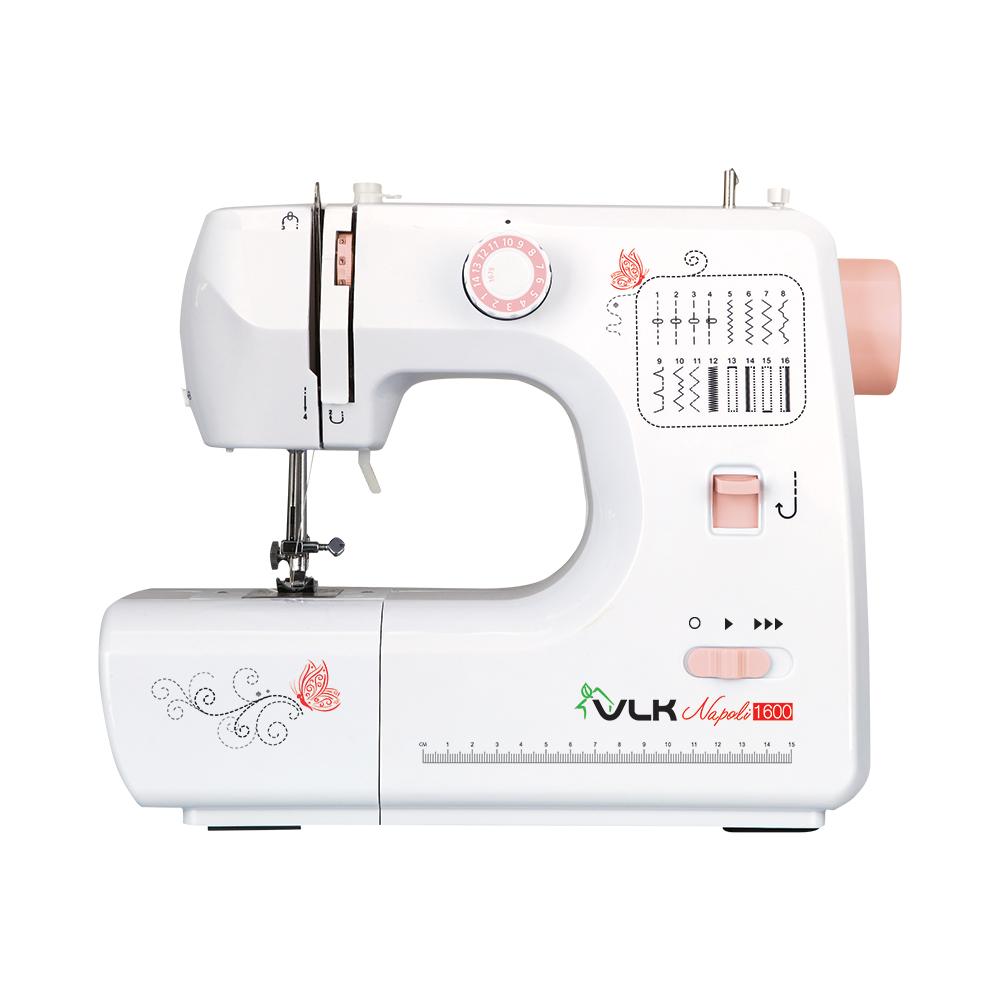 Швейная машина VLK Napoli 1600, белый электромеханическая швейная машина vlk napoli 2100