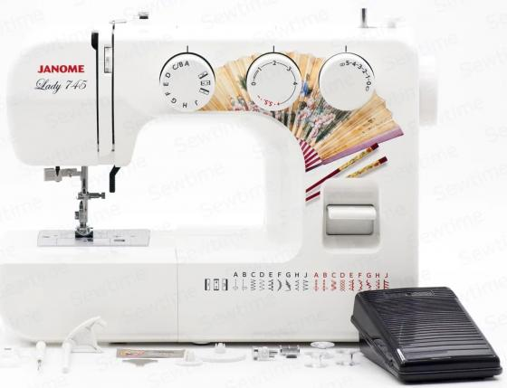 Швейная машинка Janome Lady 745 белый швейная машинка kromax vlk napoli 2100