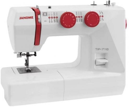 Швейная машинка Janome Tip 716 белый швейная машинка janome 450mg