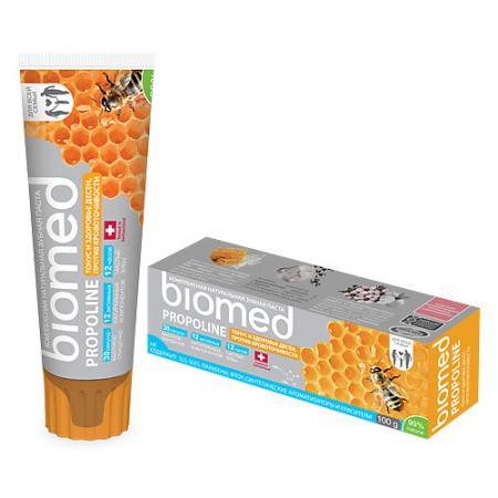 Зубная паста Biomed Прополис 100 мл colgate зубная паста total12 прополис 100 мл