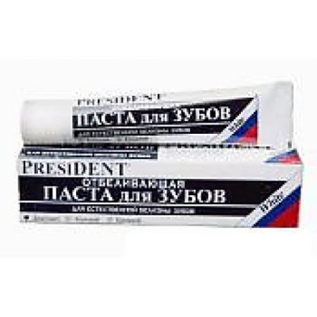 ПРЕЗИДЕНТ зубная паста УАЙТ плюс 30мл цена