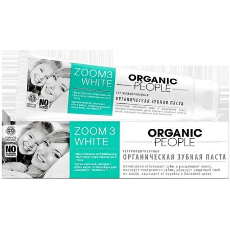 ORGANIC PEOPLE Зубная паста Zoom 3 White 100 мл зубная паста zoom white organic people 100 г