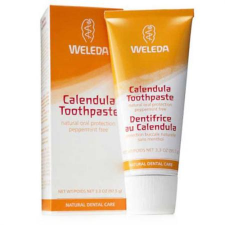 WELEDA Зубная паста с календулой без запаха мяты 75 мл weleda зубная паста солевая 75 мл