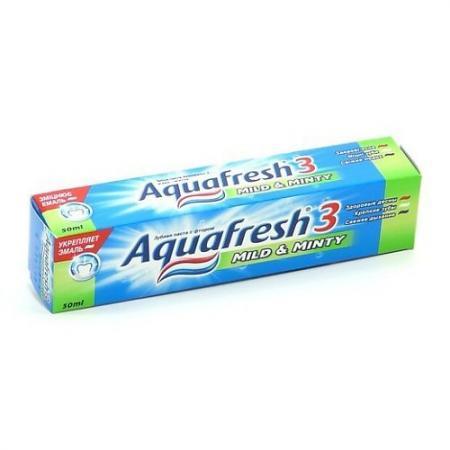 AQUAFRESH зубная паста 3 Мягко-Мятная 50 мл