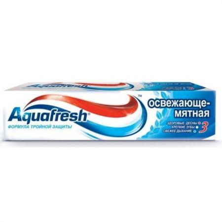 AQUAFRESH зубная паста 3 Освежающе-Мятная 50 мл