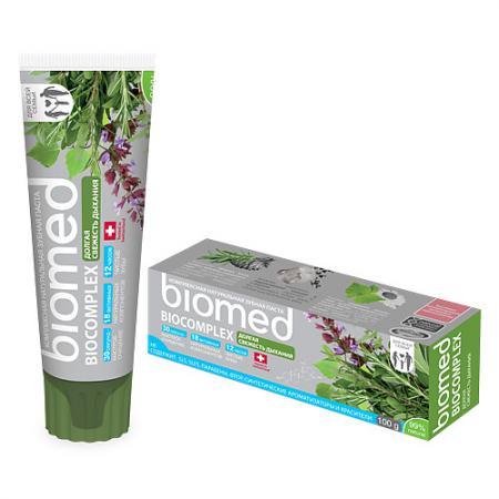 Зубная паста Biomed Биокомплекс 100 мл splat зубная паста biomed биокомплекс 100 гр