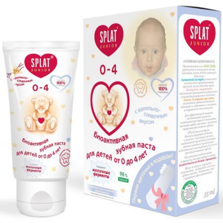 SPLAT Зубная паста для детей 0-3 лет Baby Ваниль 40 мл зубная щетка-напальчник зубная паста anti ageing антивозрастная зубная щетка dabur herbl