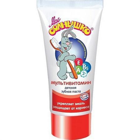 МОЕ СОЛНЫШКО Зубная паста Мультивитамин 65г подкормка авз косточка мультивитамин 100 таблеток