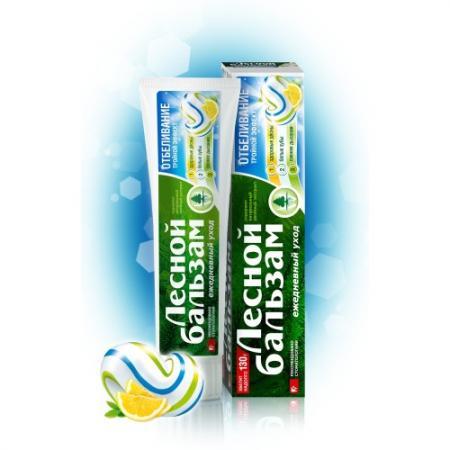 Картинка для Зубная паста Лесной бальзам Тройной эффект Отбеливание 130 гр