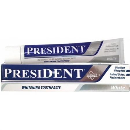 ПРЕЗИДЕНТ зубная паста отбеливающая Уайт 75 мл swiss smile отбеливающая зубная паста snow white 75 мл